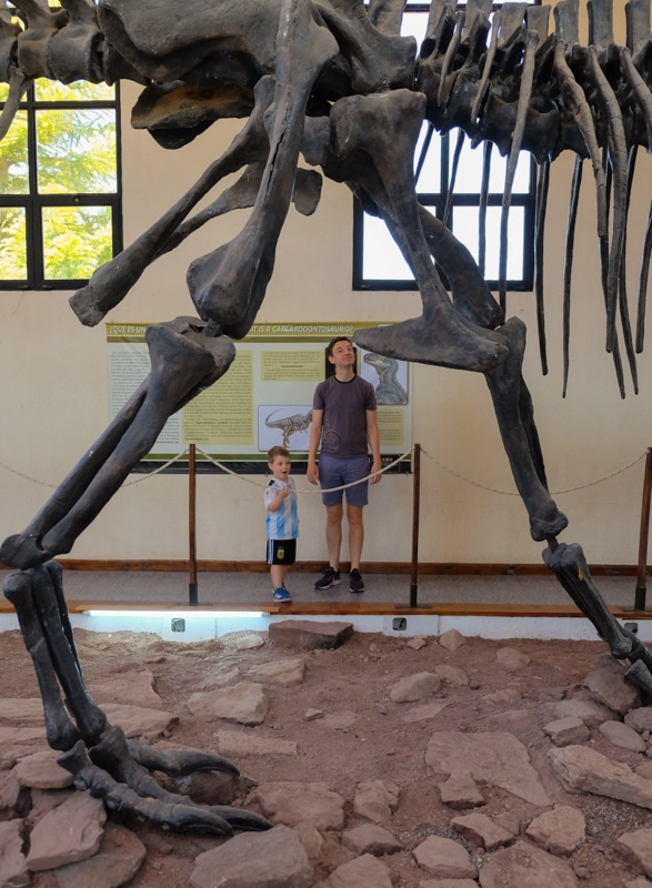 Dinosaur Museum in Argentina with kids