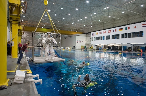 Space Camp in a pool