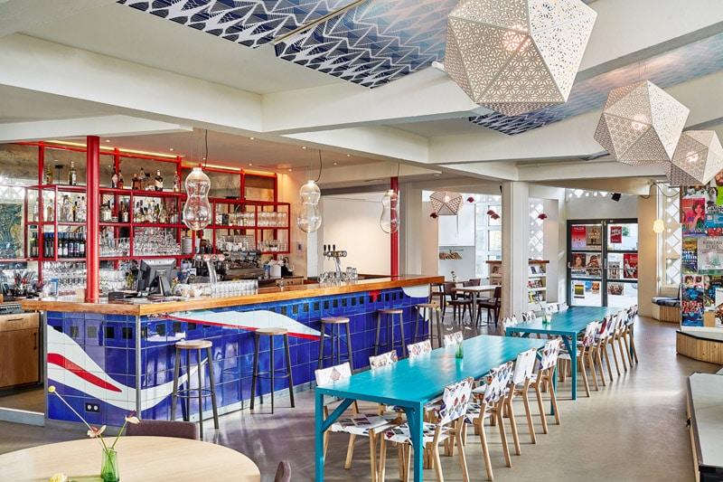 Podium Mozaiek Cafe interior in Amsterdam