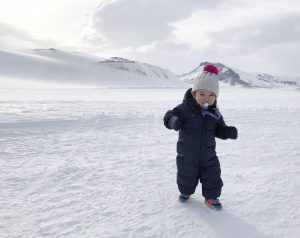 winter travel with a baby to Iceland