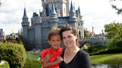 My toddler and I at Magic Kingdom