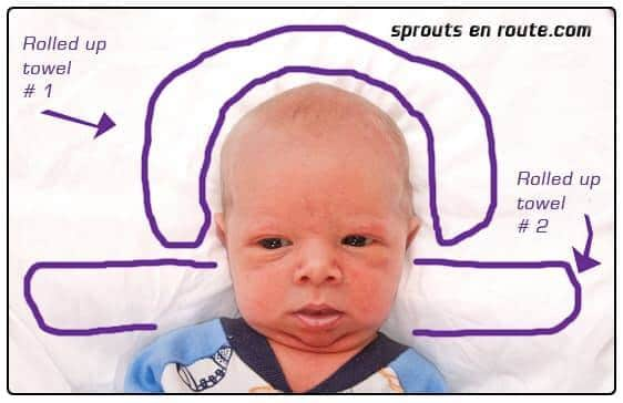Head support for infant passport photos