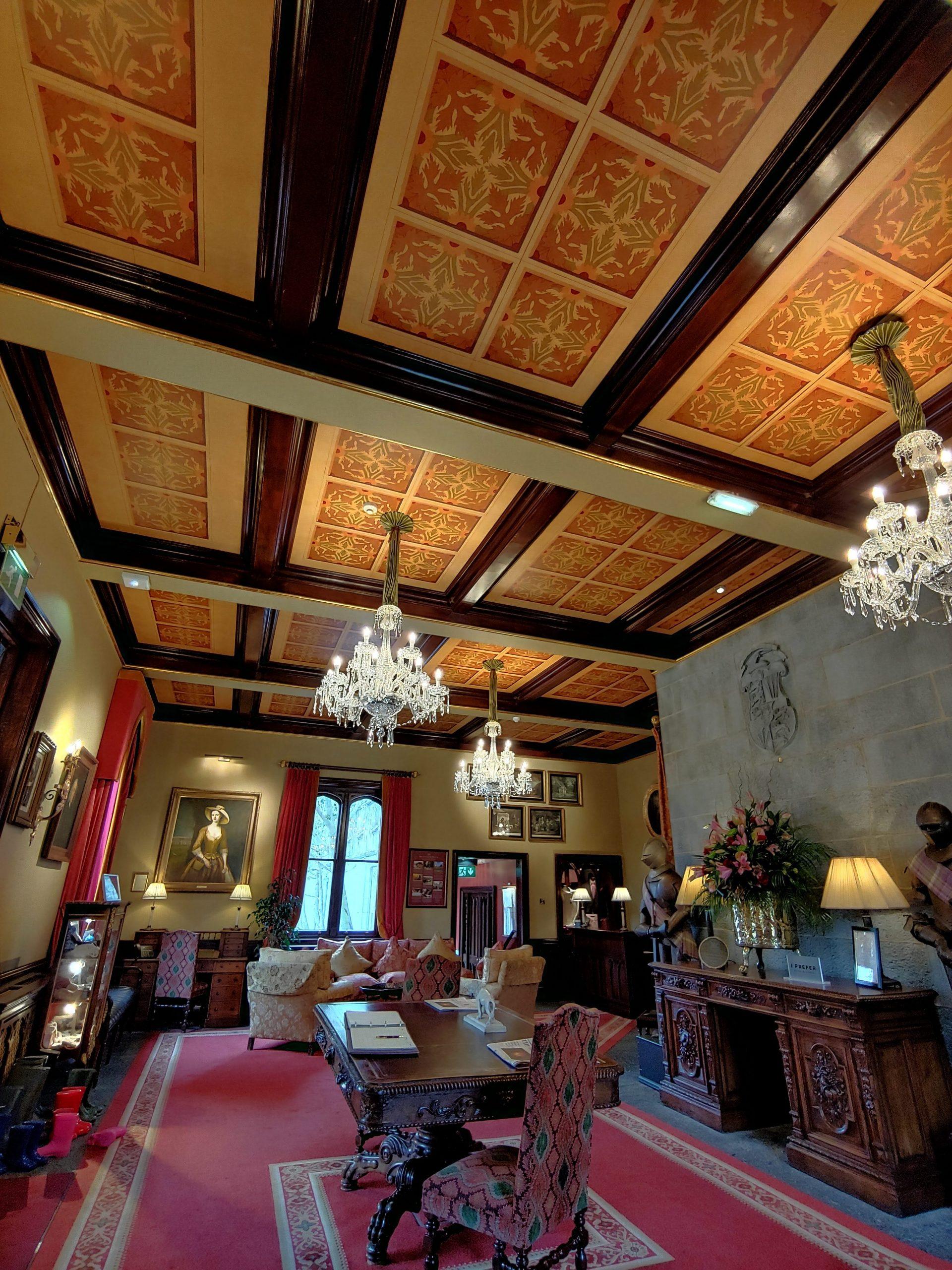 inside of castle hotel