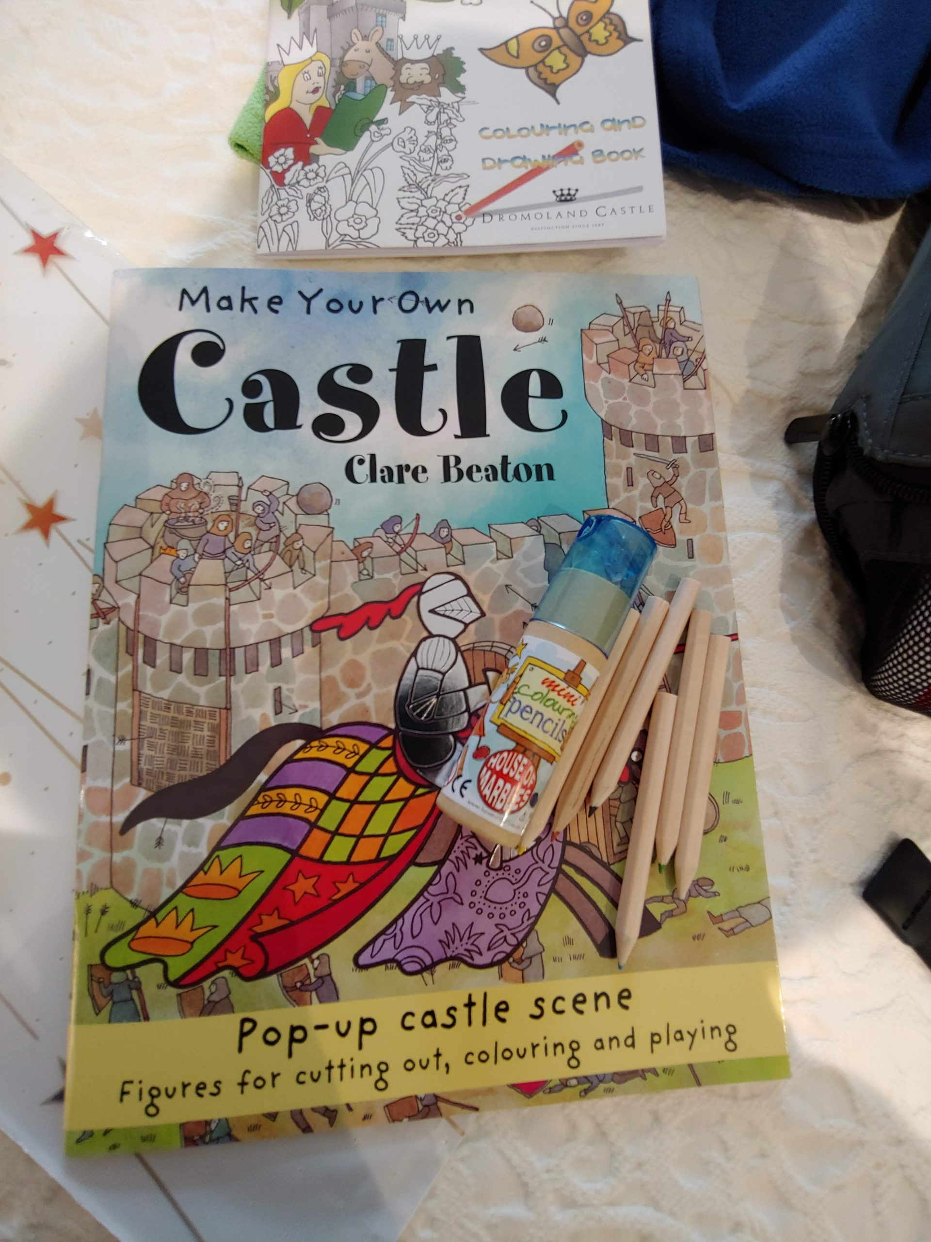 coloring book at check in