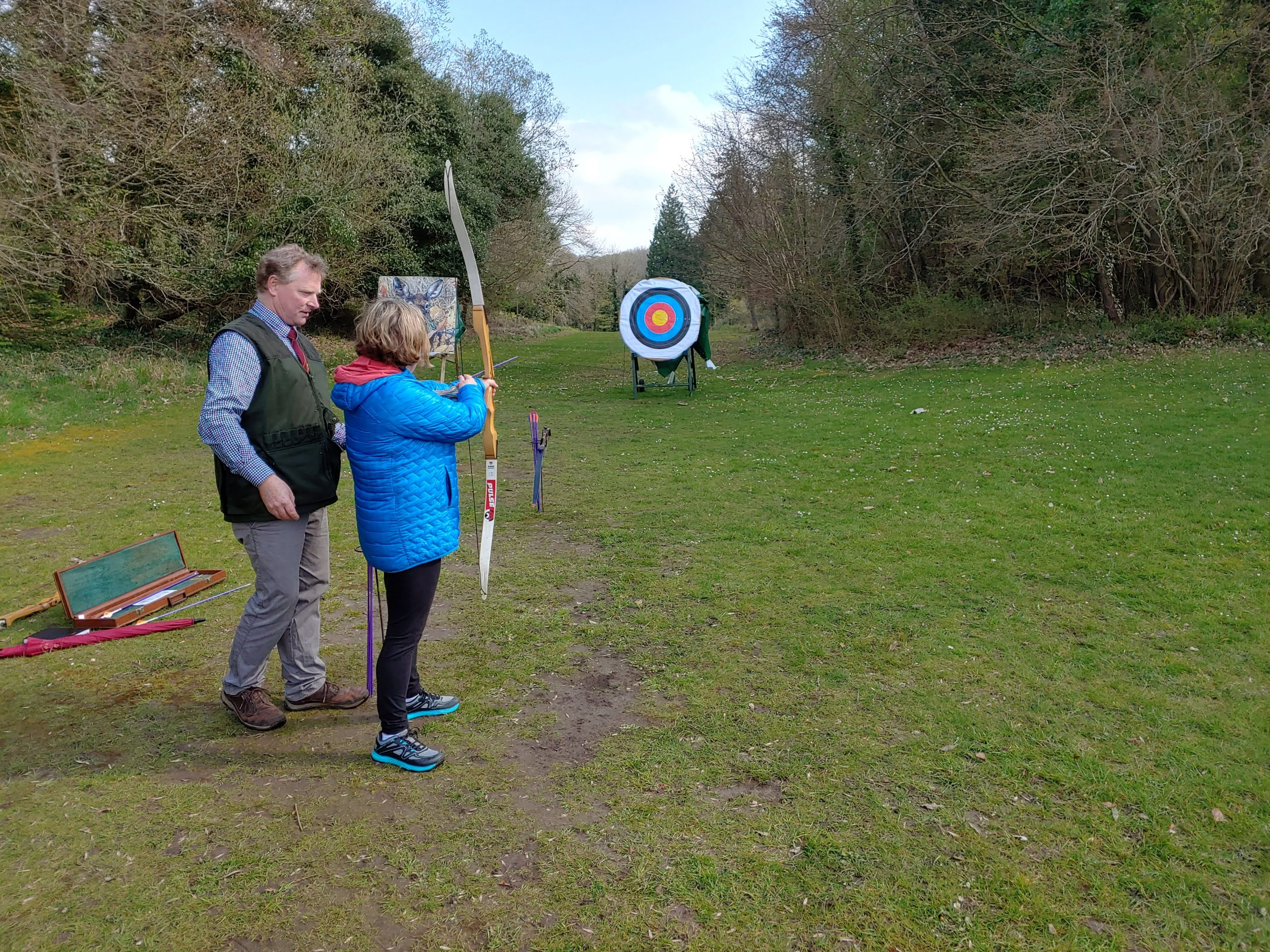 archery lessons at the castle hotel