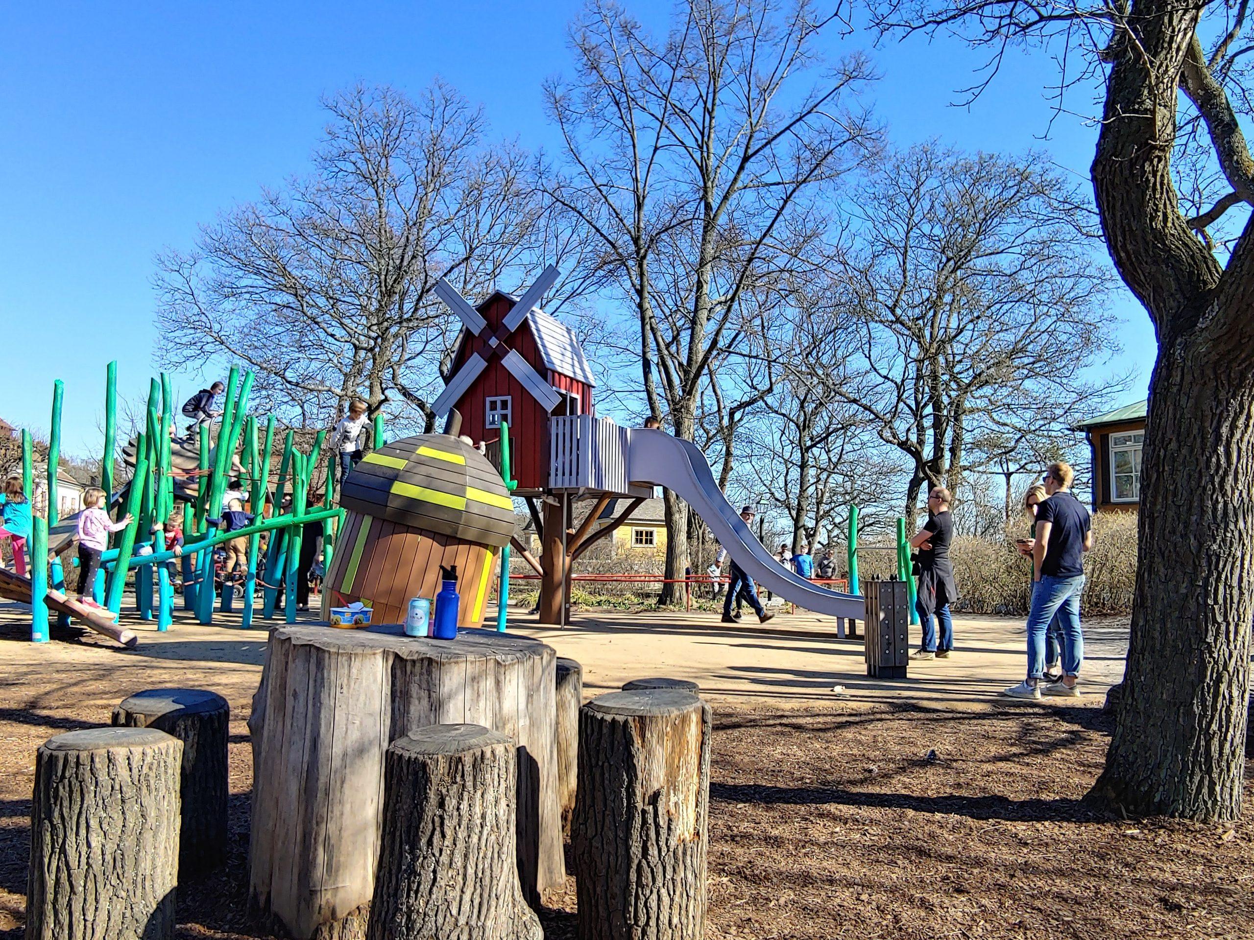 Nearby playground