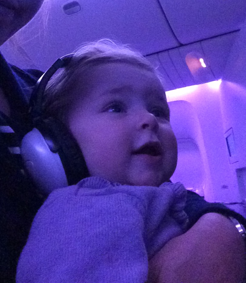 Amelia on Air New Zealand