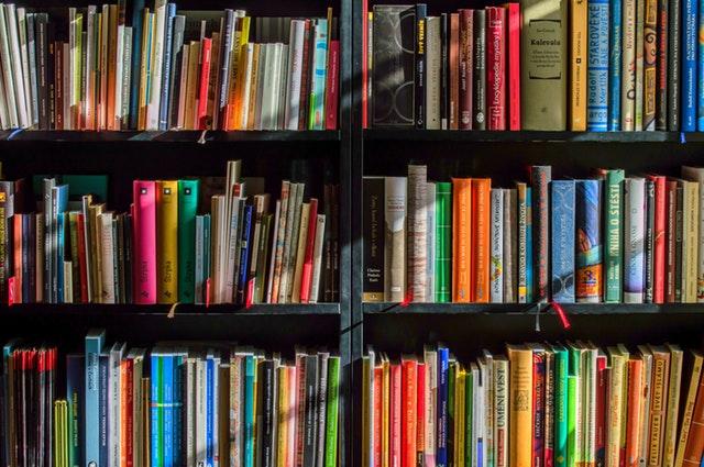 book lining shelf