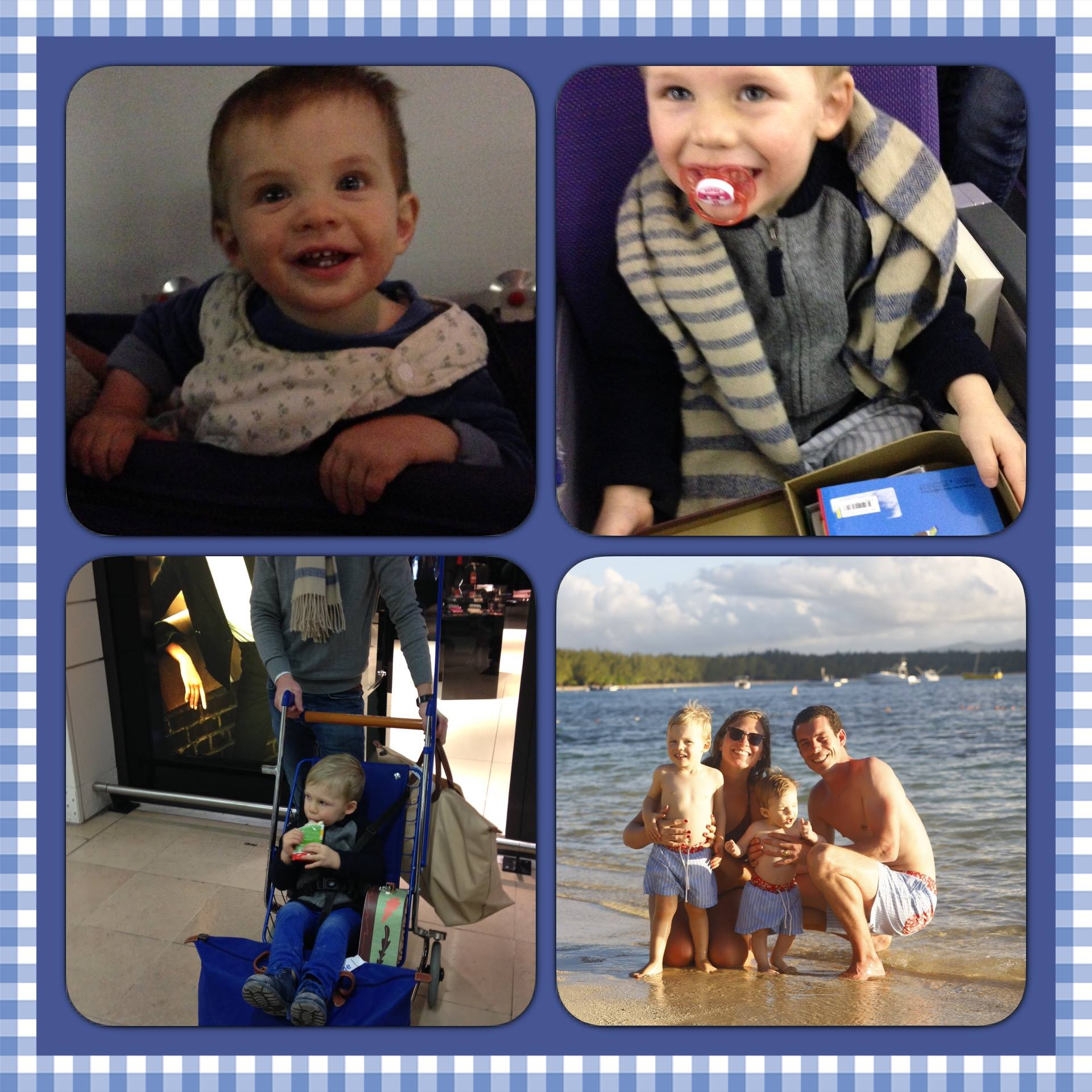 Mathilde family travel collage