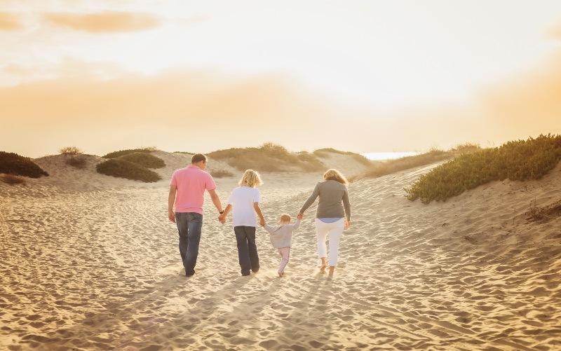 family San Diego beach