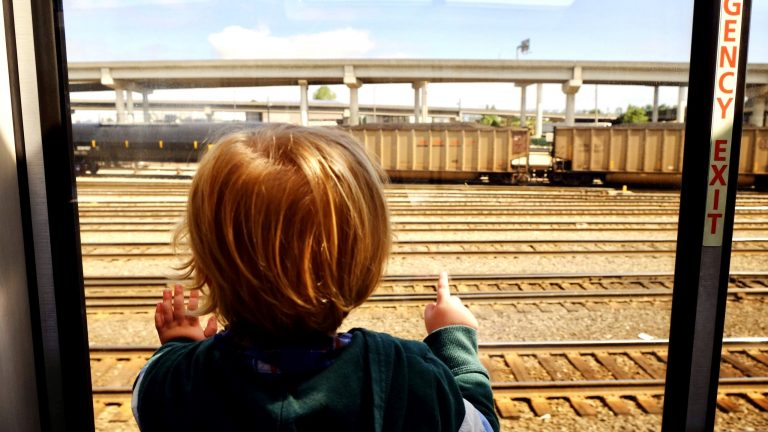 take the train to help reduce your carbon footprint on your next family vacation!