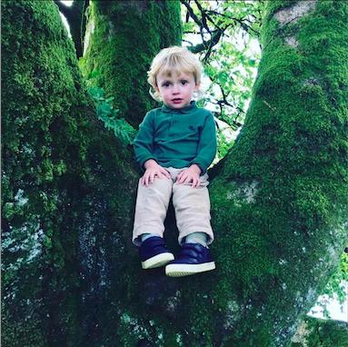 toddler traveling in Devon