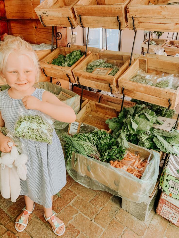 little girl at Bryanston Organic Market Johannesburg