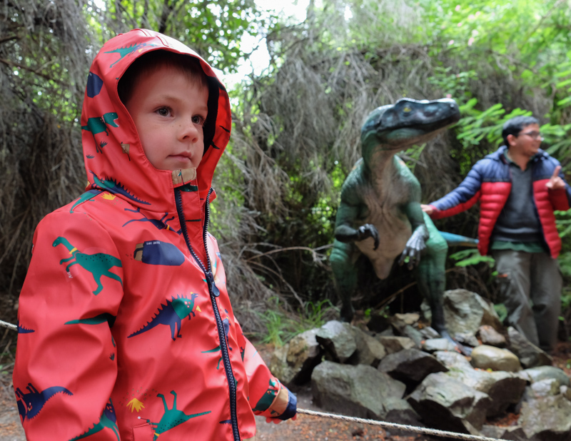 dinosaur park in argentina with kids