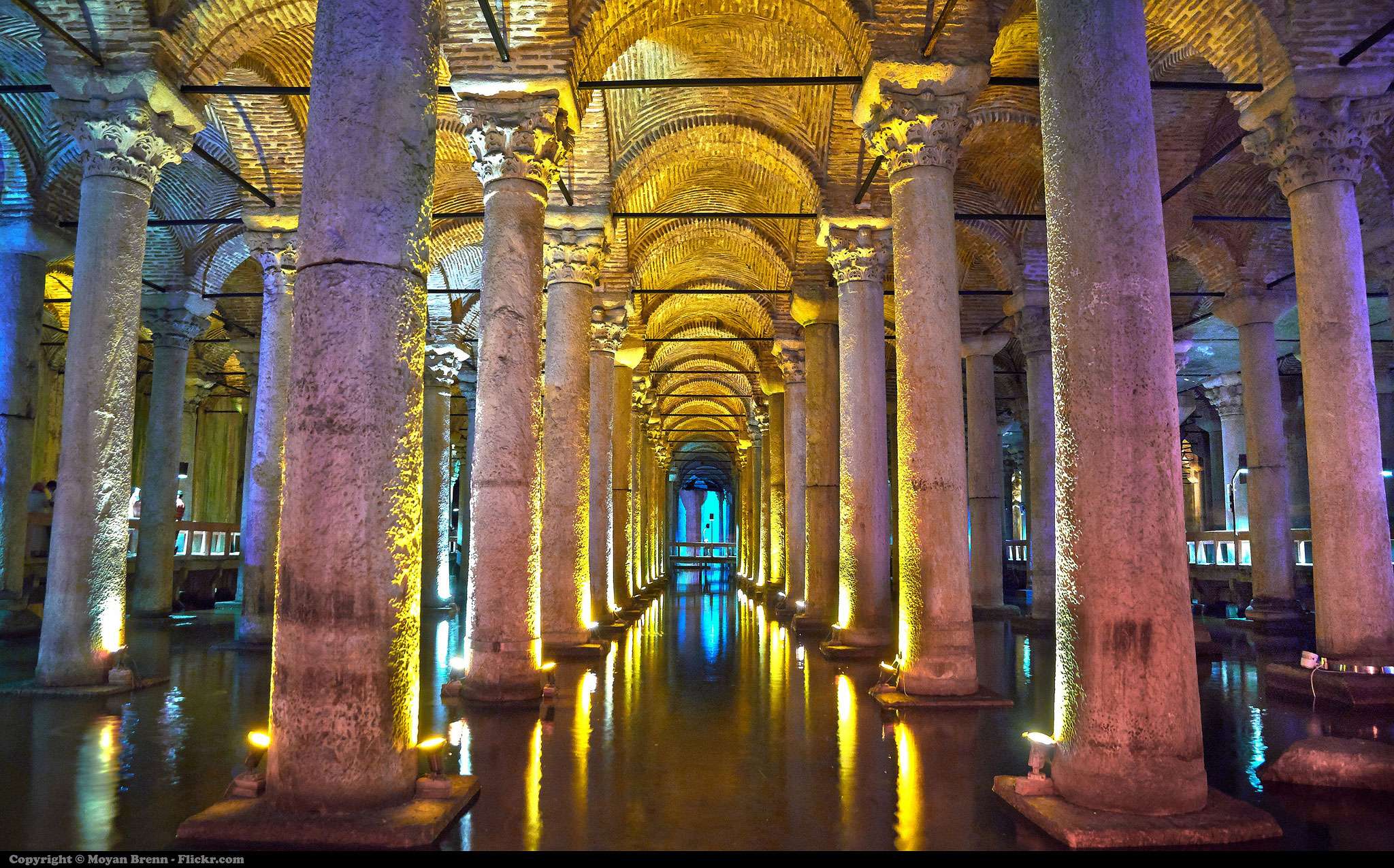 The Basilica Cistern, Istanbul with kids