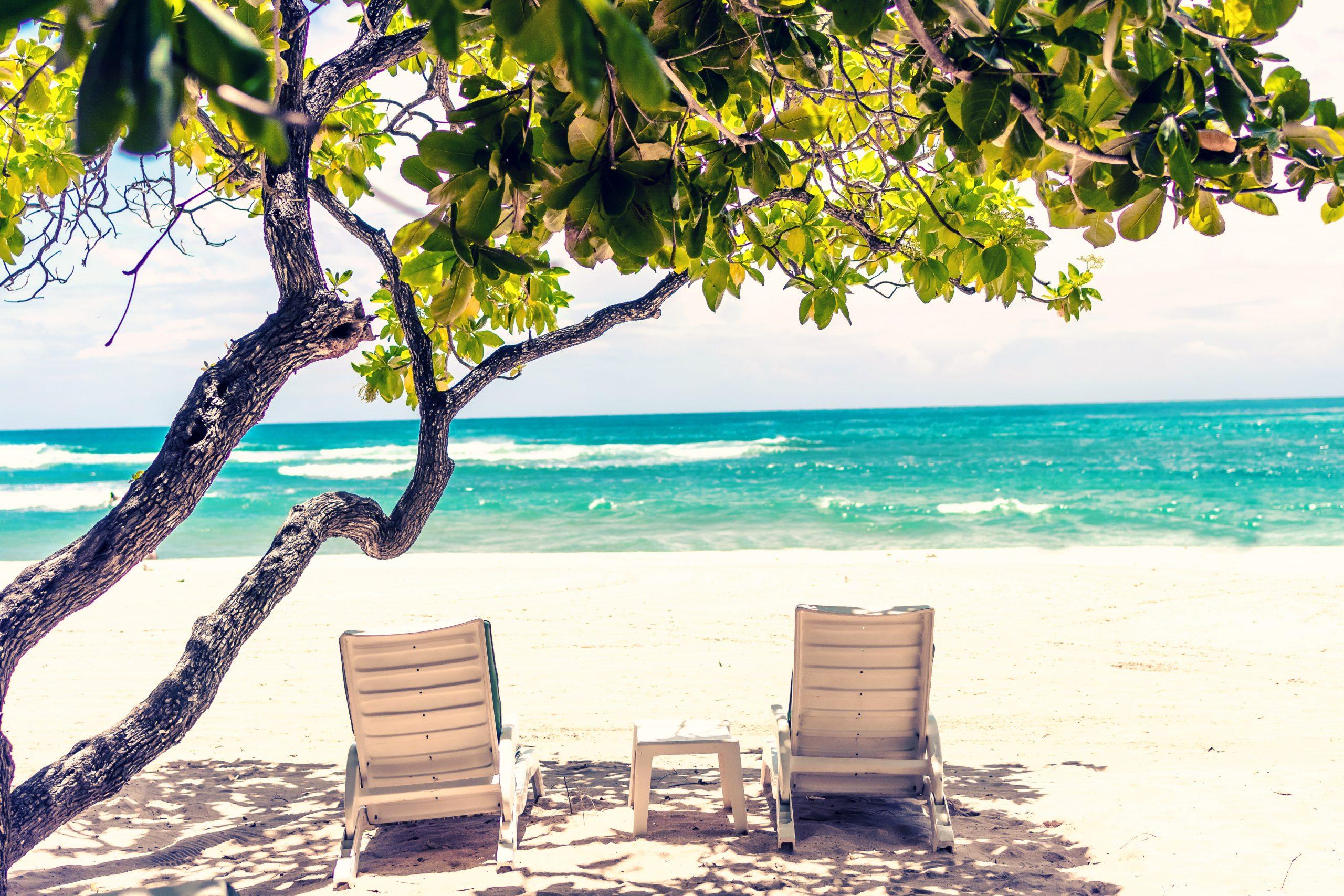 The beach on a caribbean family trip