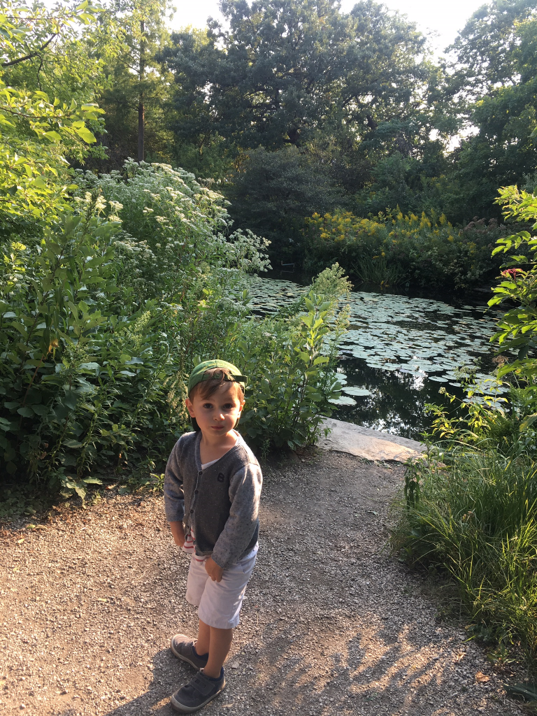 Kids at Alfred Caldwell Lily Pool