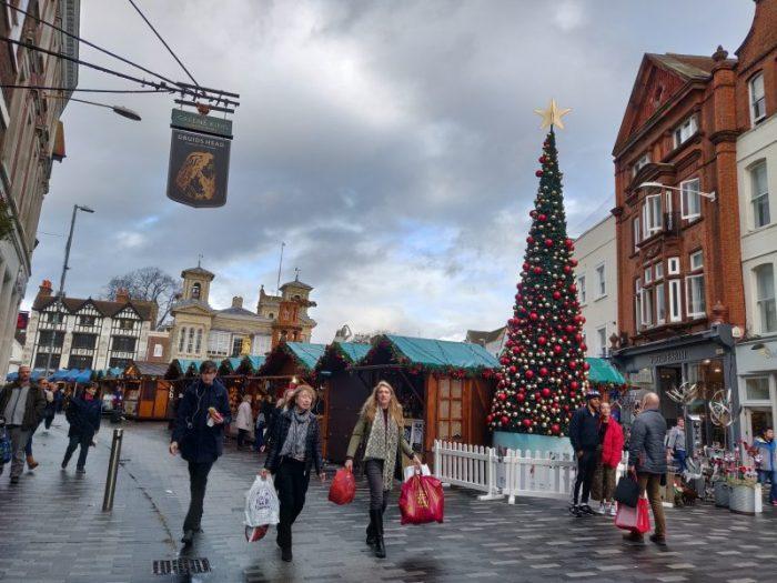 Kingston Weinachtsmacht christmas market in london