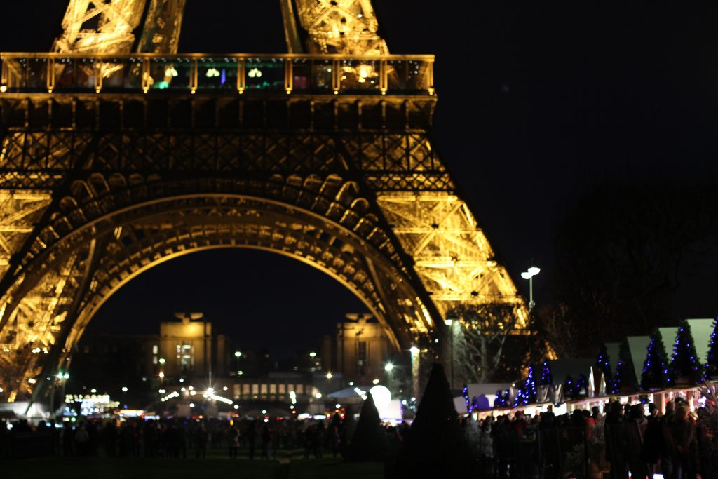 Eiffel Tower during Christmas time