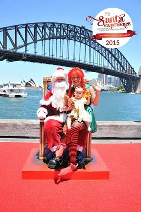 picture of baby with santa in sydney harbor