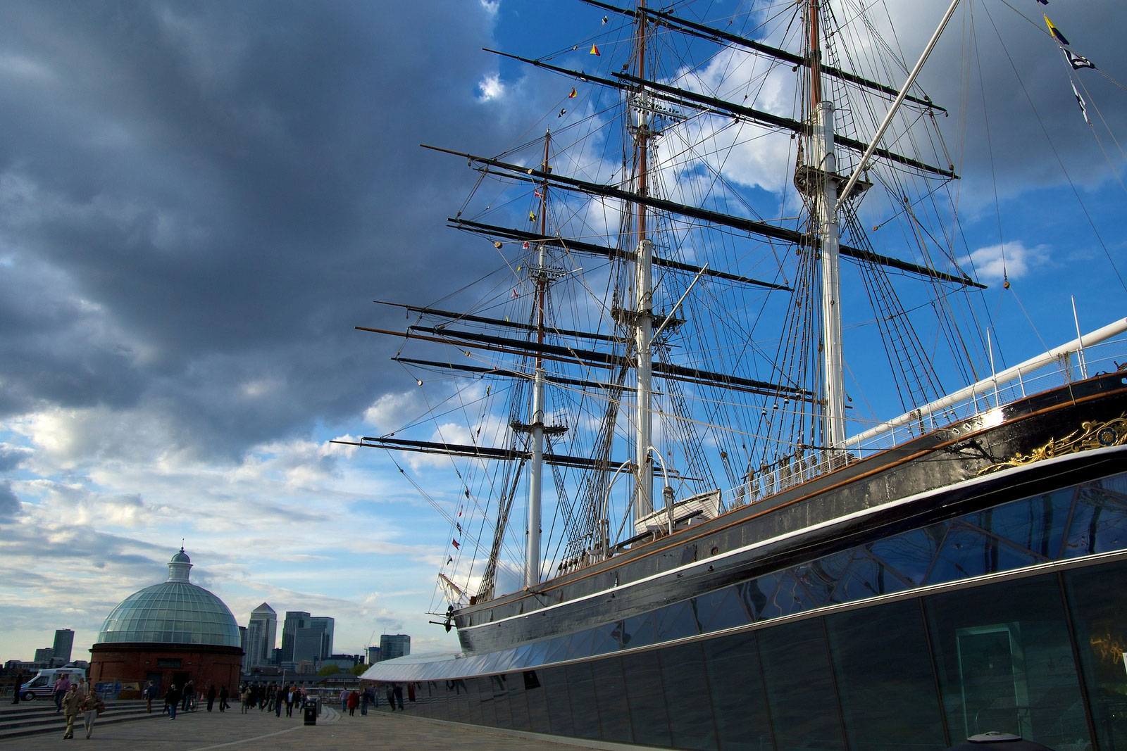 The Cutty Sark with kids