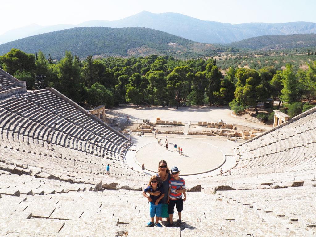 Epidaurus with kids