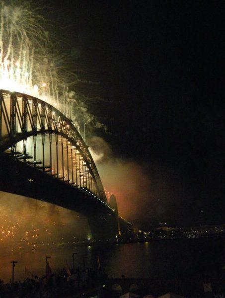 fireworks at Sydney Harbour for NYE