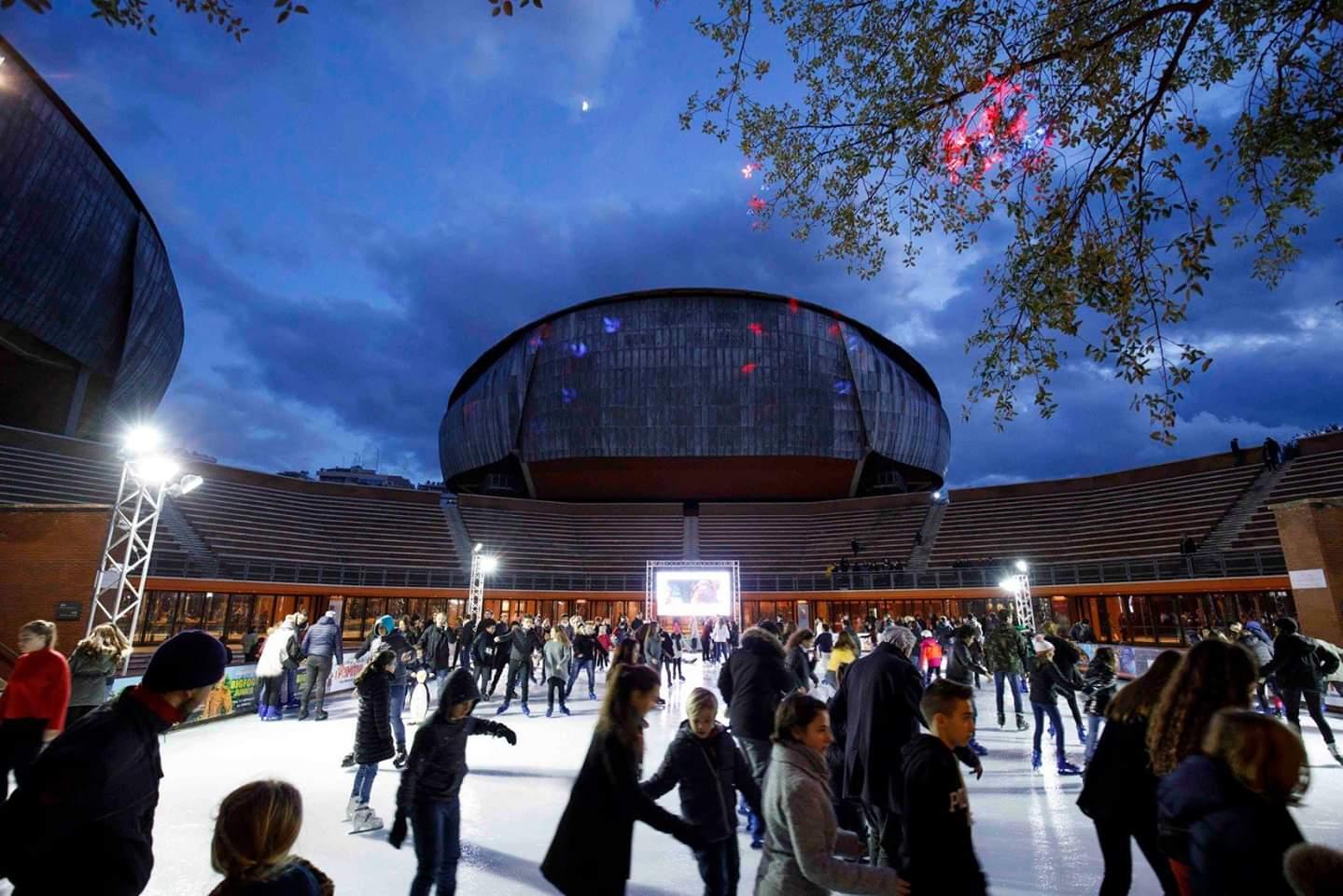 ice skating rome auditorium christmas
