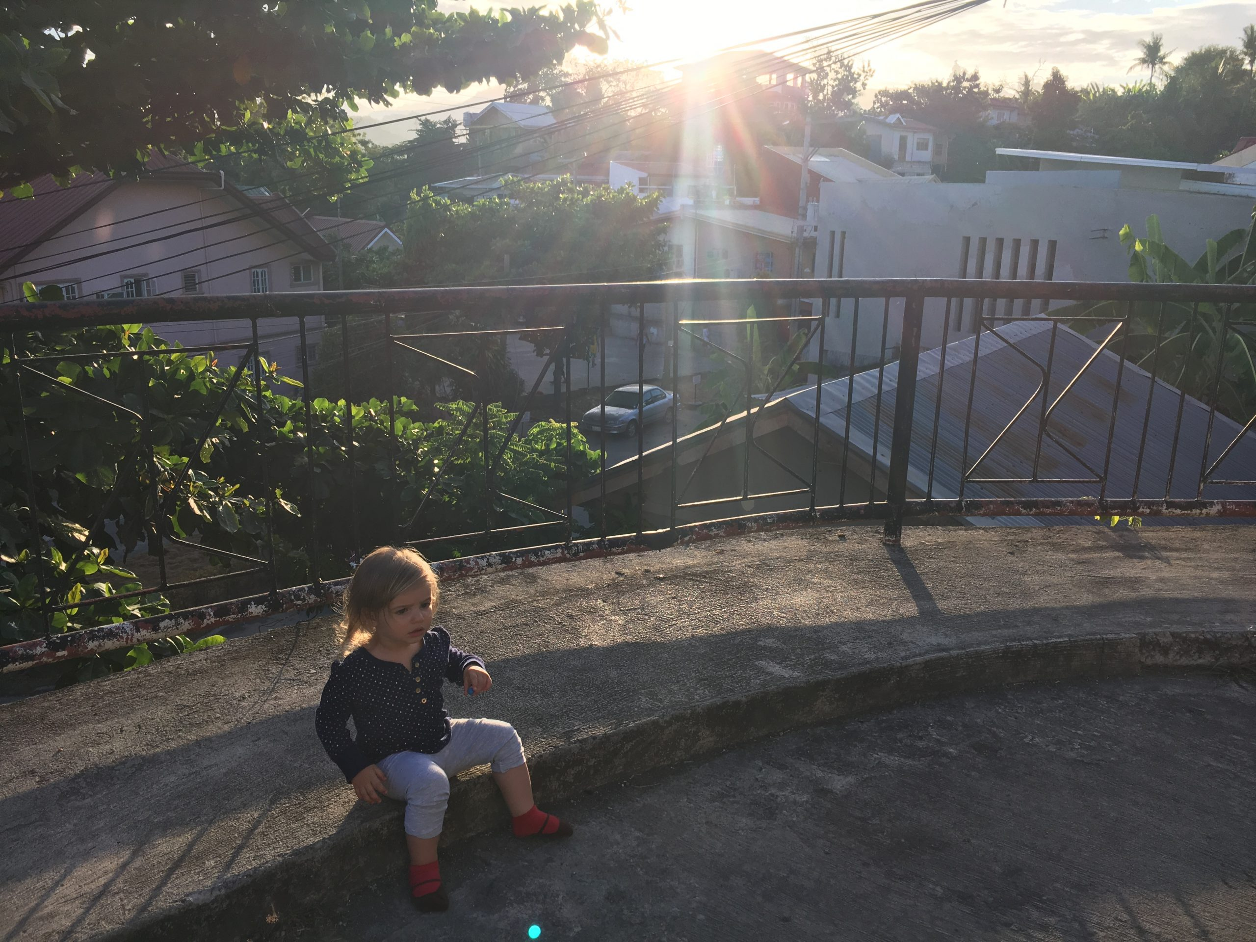 bébé and sunset