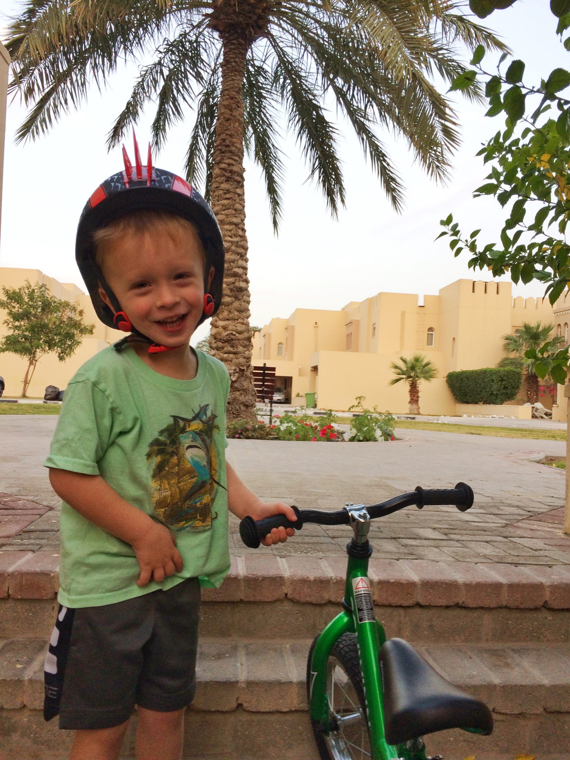 compound life in the Middle East with kids