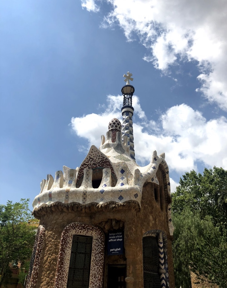 Building at Park Guell in Barcelona, Spain
