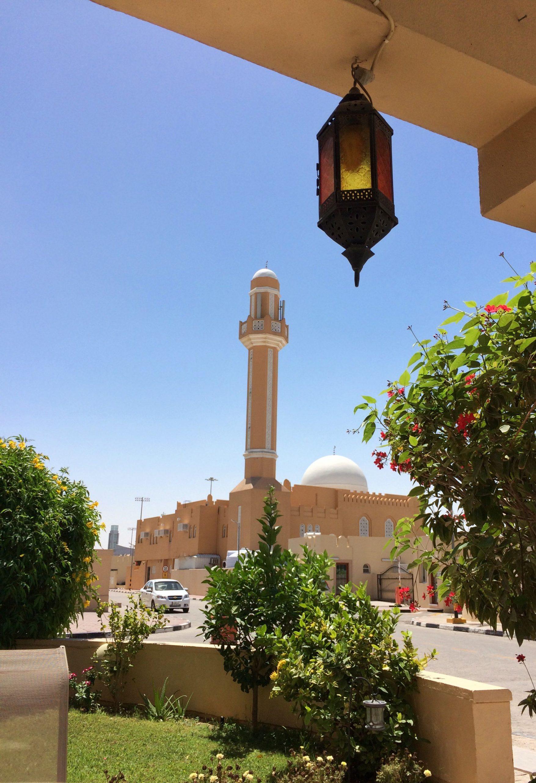call to prayer on a beautiful morning in Doha, Qatar