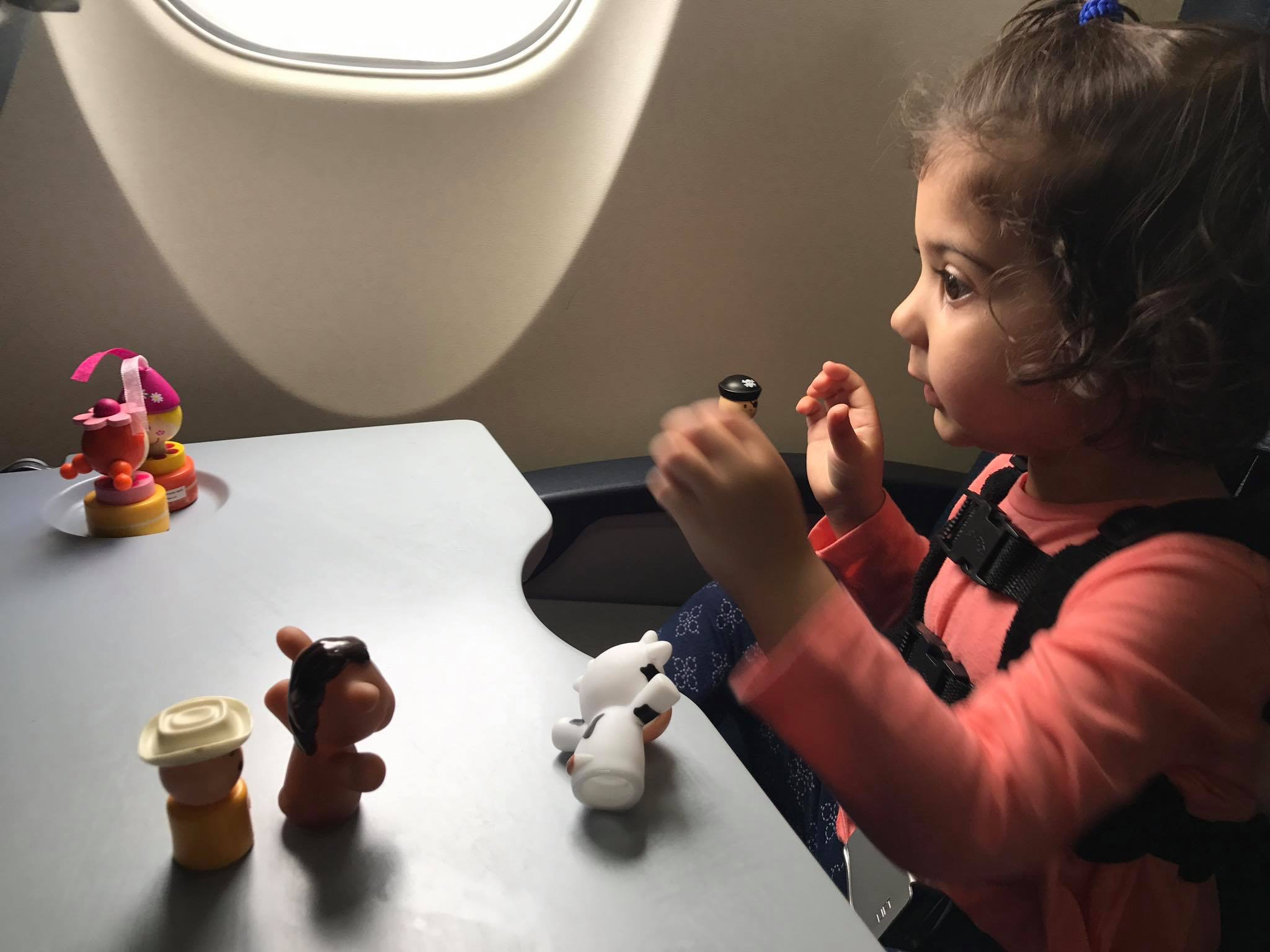 How to Entertain Two-Year-Old Toddlers on an Airplane--Stickers, Window Clings, Figurines and More