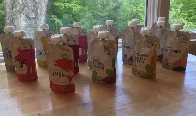 Serenity Kids Baby Food Pouches flavor selection