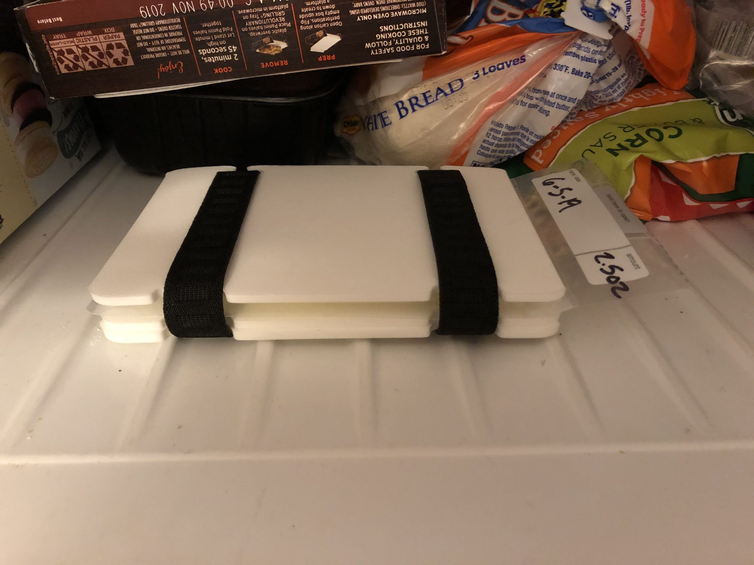 MAMMAWAY Freeze It Flat in Megans freezer