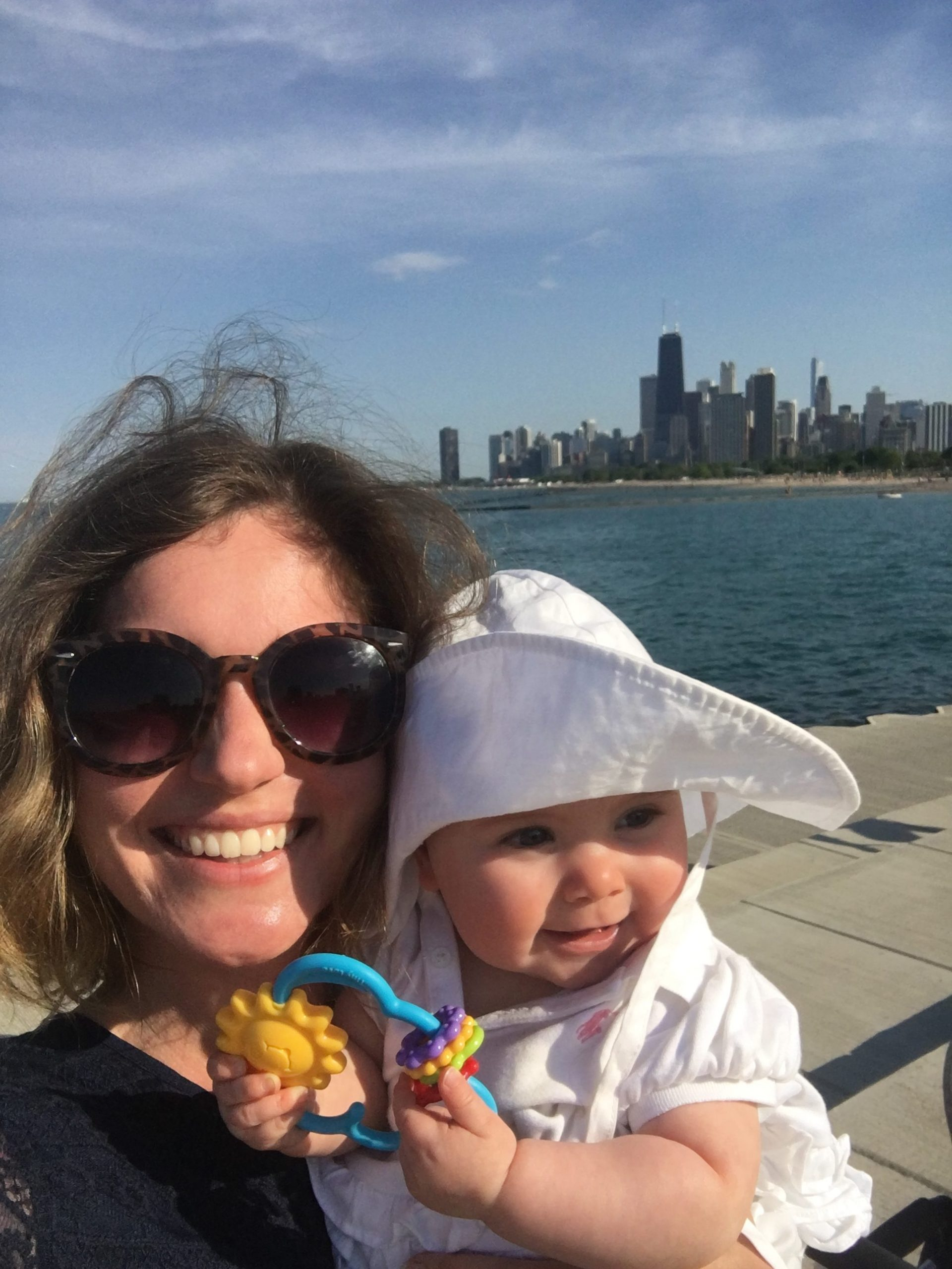 Chicago Skyline with baby