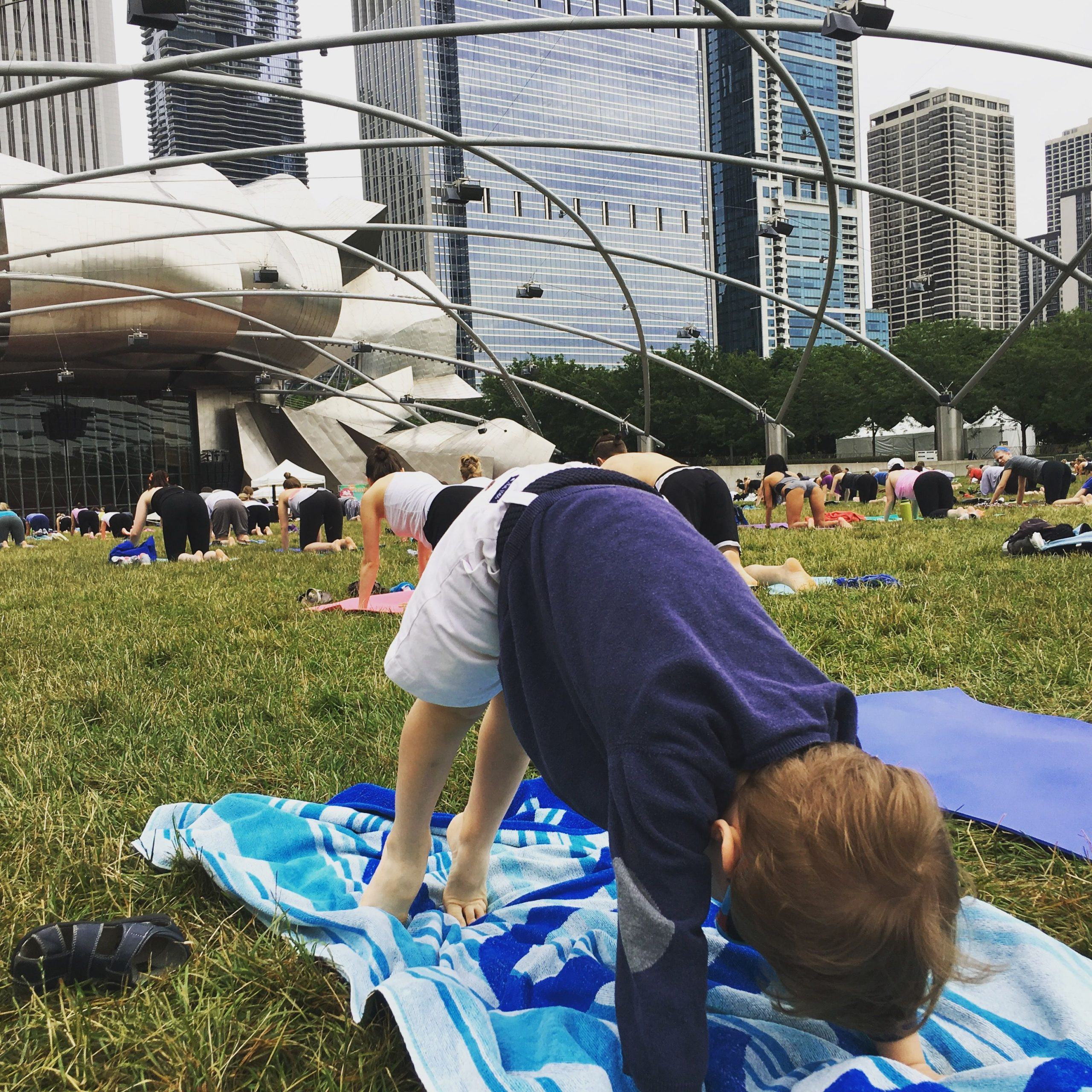 Yoga in the park, Chicago