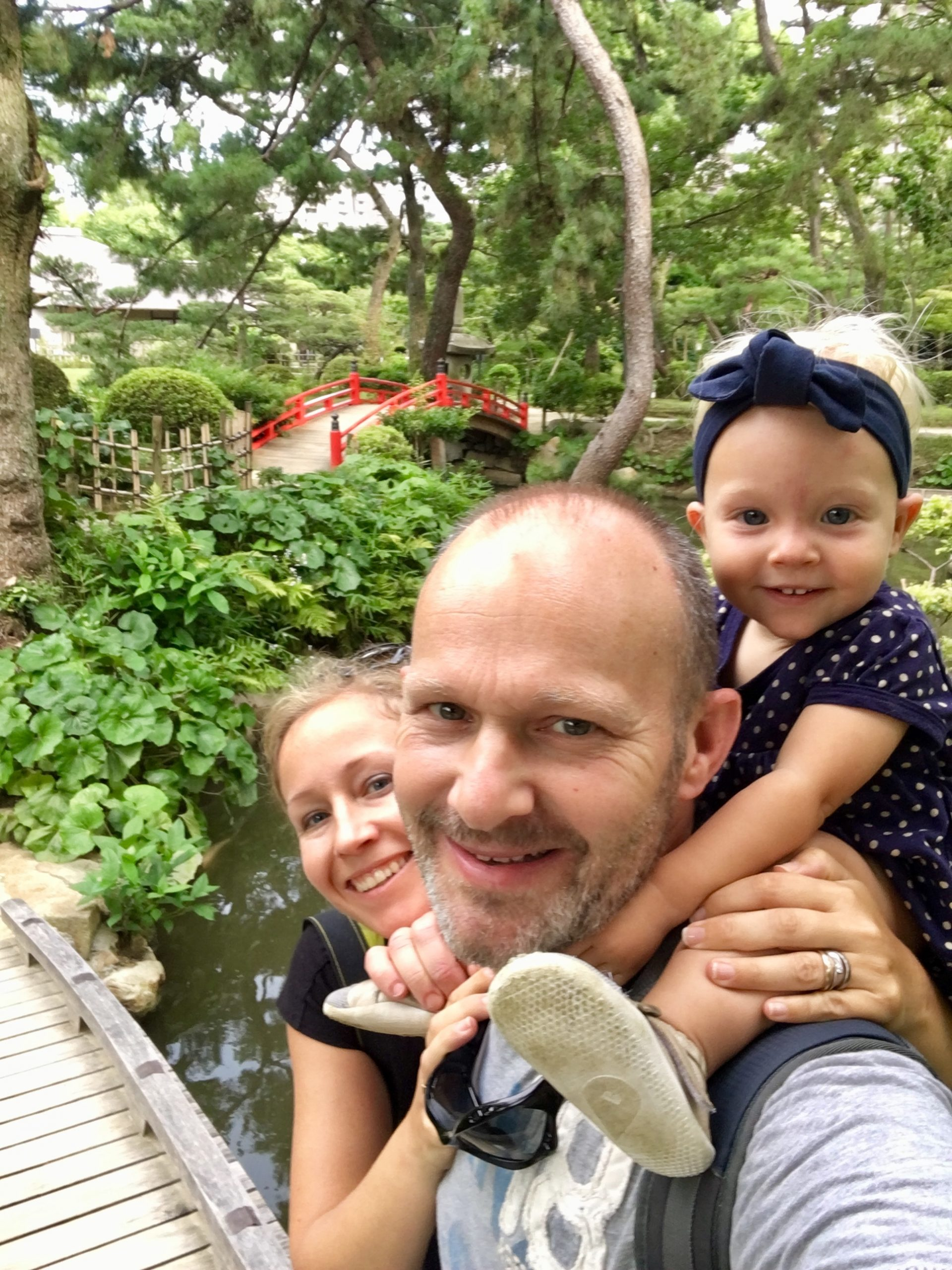 Family traveling in Japan
