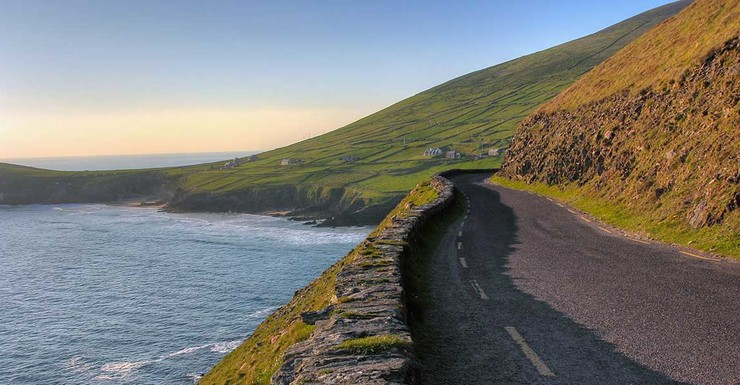 Beautiful drive in Ireland, the kids will love checking out the sites!
