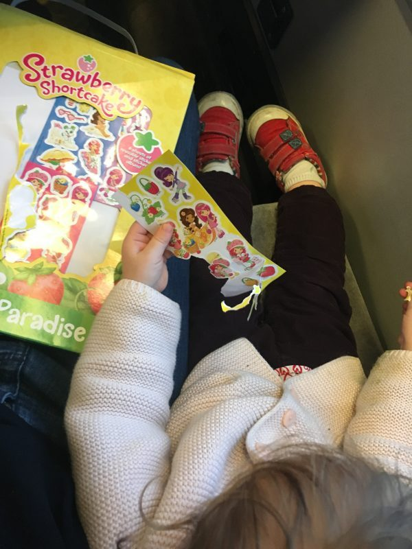 stickers to entertain baby on train