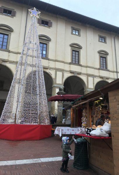 Christmas market in Arezzo Tuscany