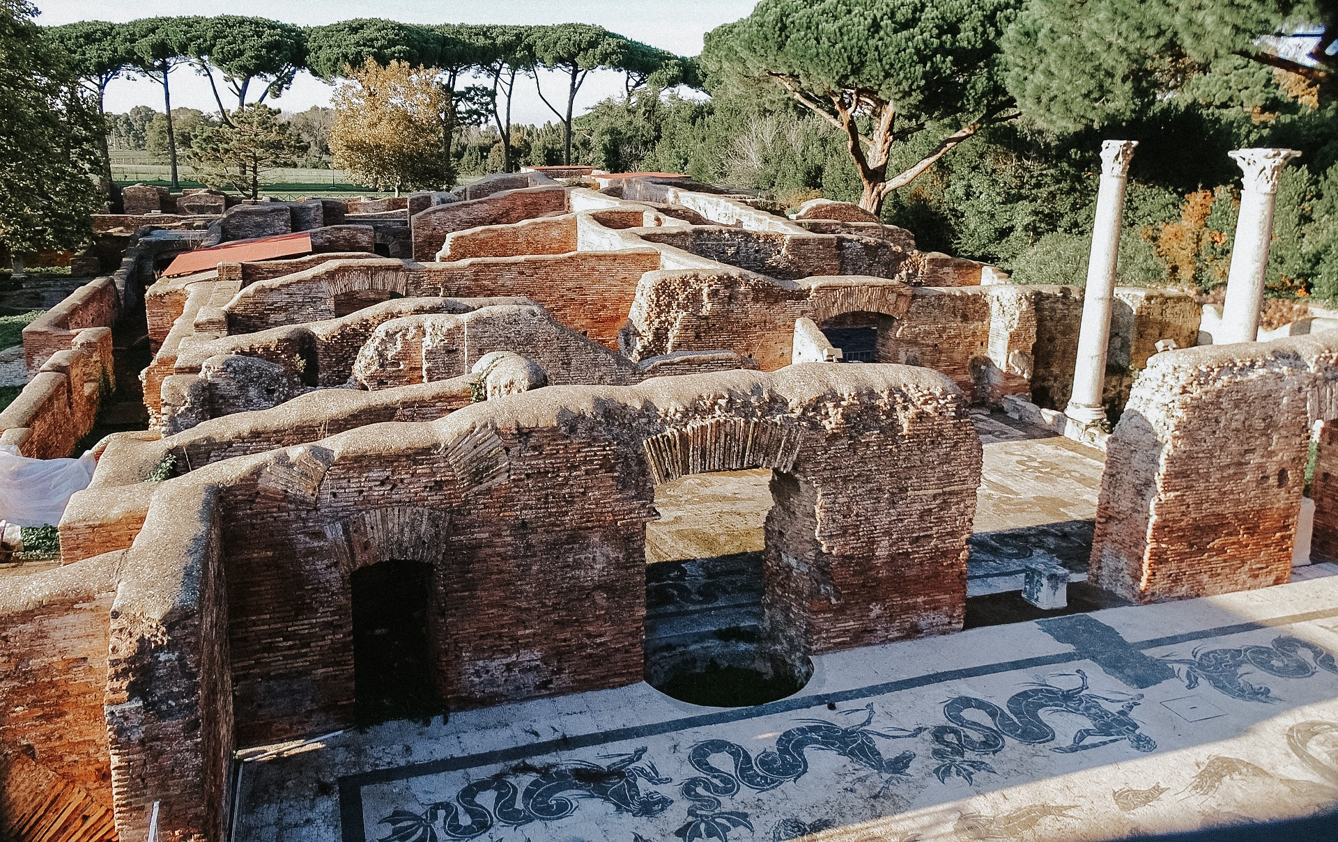 Ostia Antica from above