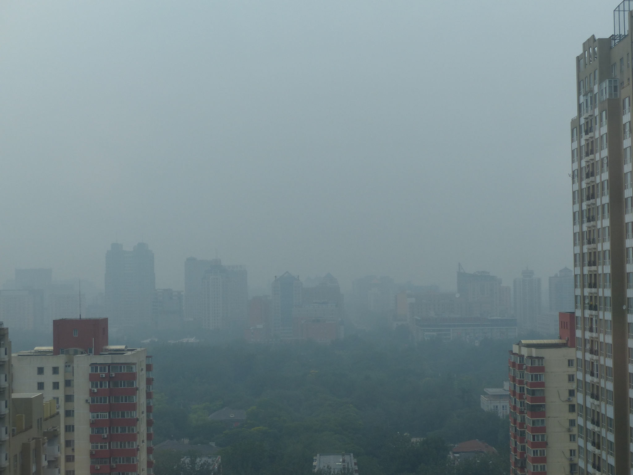 Beijing view with pollution
