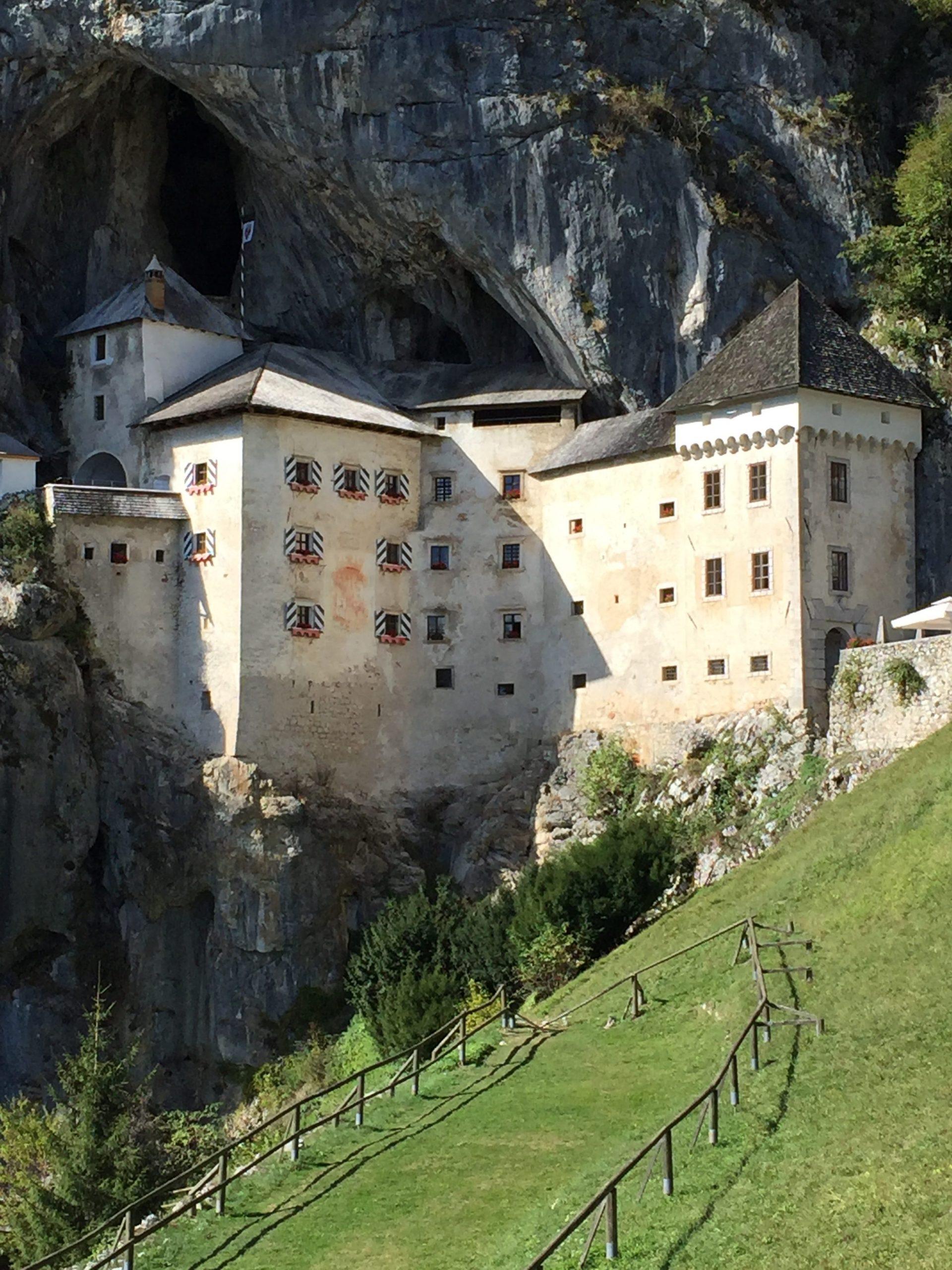 A View of Predjama Castle in Slovenia