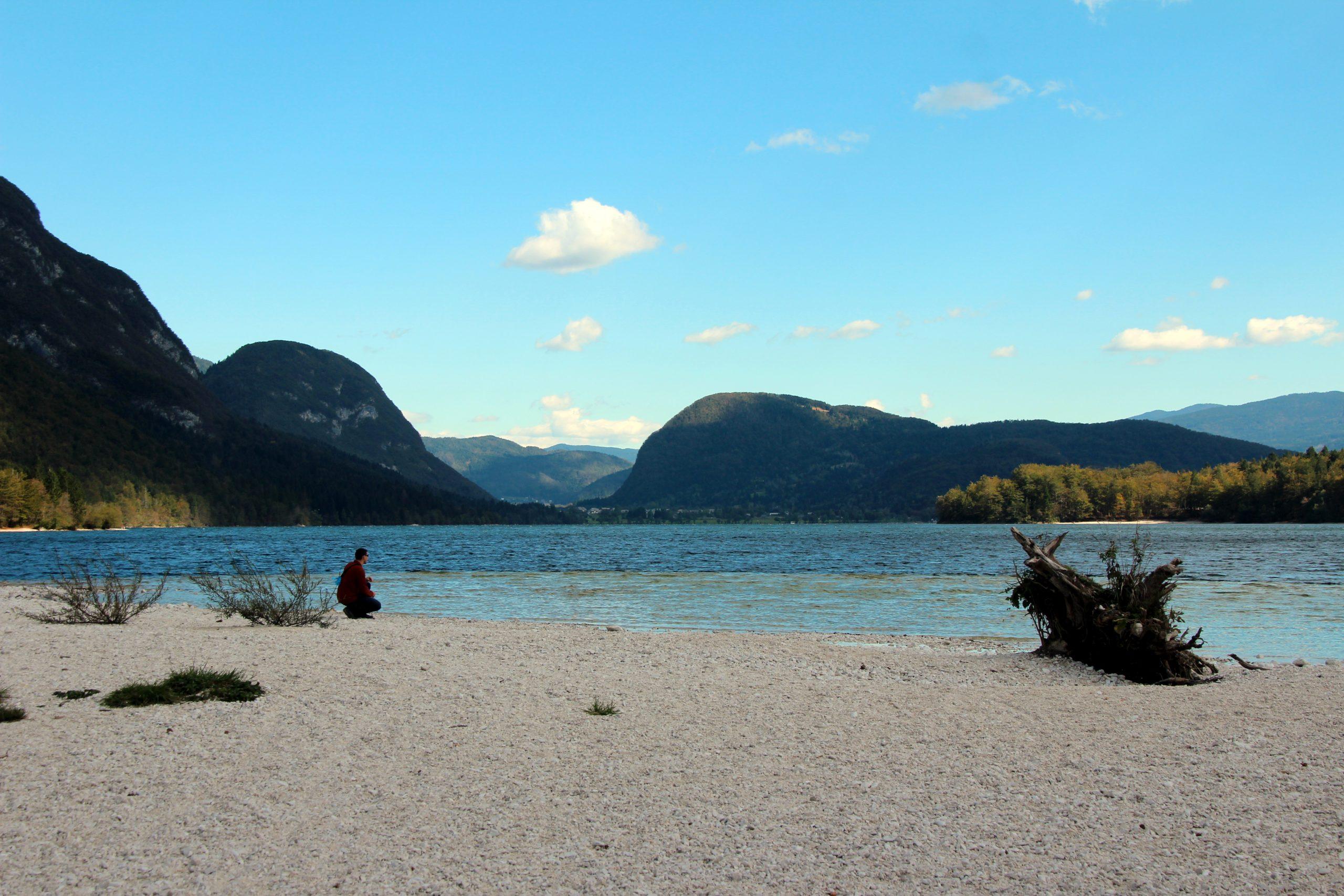 West Shoreline of Lake Bohinj in Slovenia