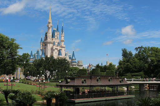 Cinderella Castle at Disney from a distance