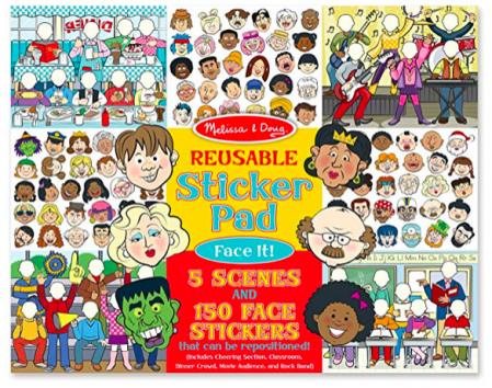 Entertain kids with sticker scenes
