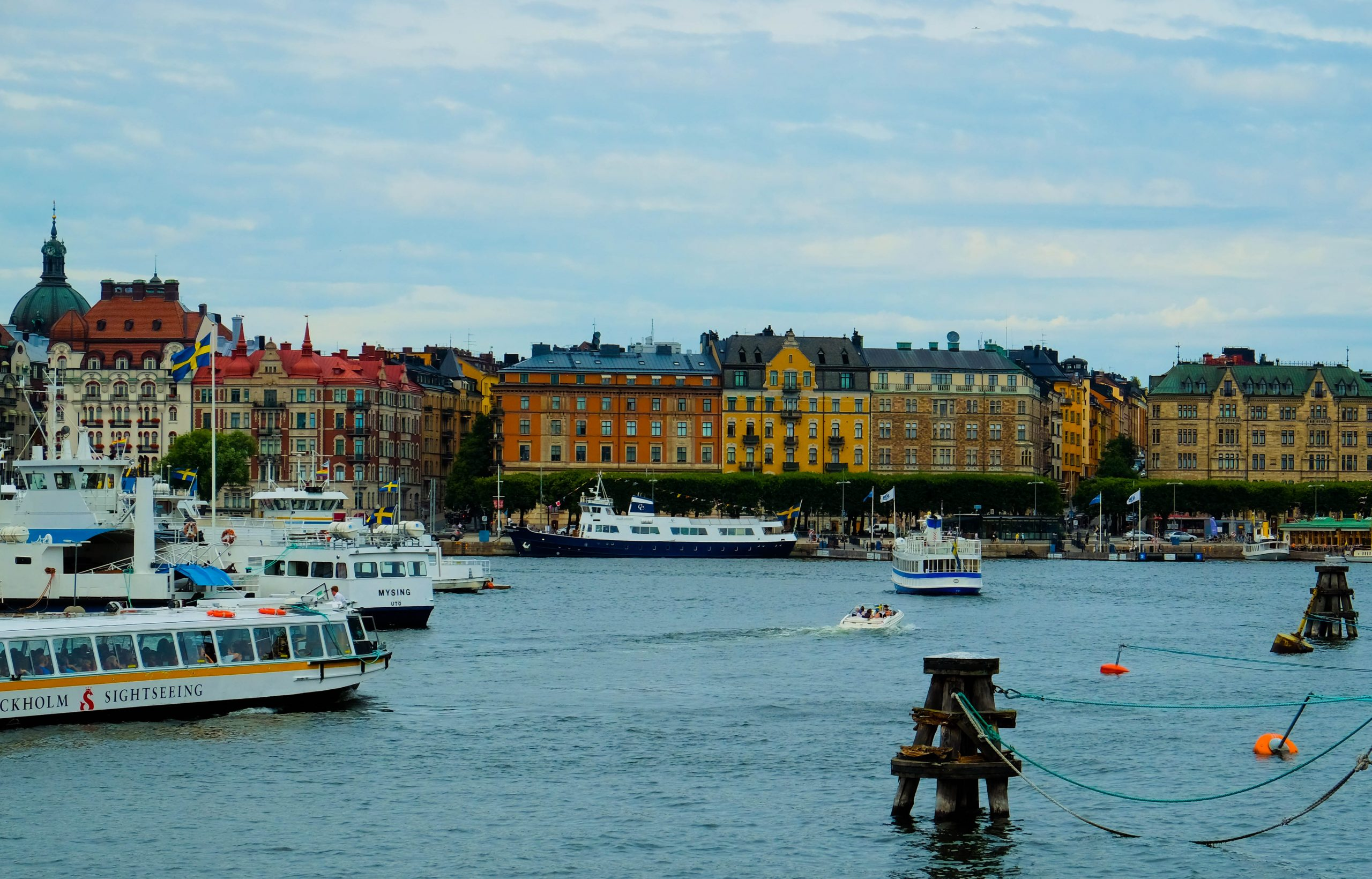 Stockholm with toddler stromma boat tour