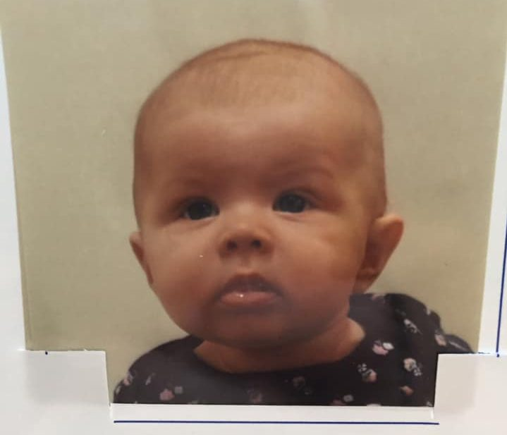 Infant passport photo taken at AAA that was not accepted at passport office