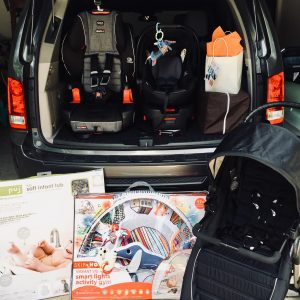 BabyQuip Happy Baby Package plus an additional harness-booster car seat
